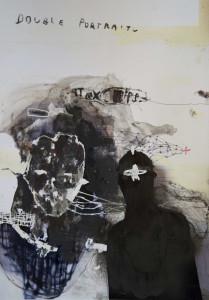 EMANUELE RAVAGNANI Senza titolo self-portrait3 2017 tec.mista su foto 40x30cm