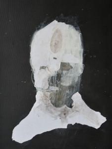 Emanuele Ravagnani Senza Titolo 2017 tec.mistae collage su tela 61x46cm