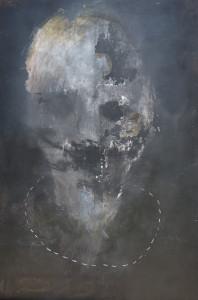 Emanuele Ravagnani Senza titolo 2017 tec.mista su tela 150x100cm