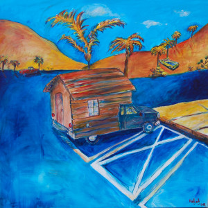 Molin Corvo gallery BRUNO HADJADJ Home sweet home 2018 Acrylic on canvas 150X150cm