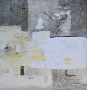Senza titolo 2017 mista e collage su tela 113x112 cm