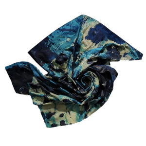 WAVE #1 - 2020 Mixed media, cotton, resin, and acrylic Taille : 70x87x7 cm