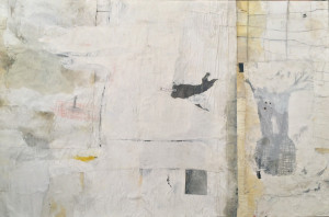 EMANUELE RAVAGNANI SENZA TITOLO Mixed media collage on canvas 2015 100x150cm