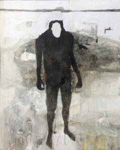 EMANUELE RAVAGNANI SENZA TITOLO Mixed media collage on canvas 2017 200x155cm