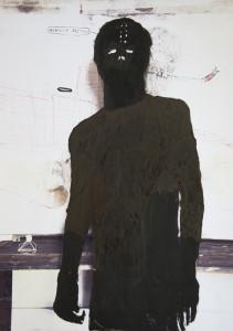 EMANUELE RAVAGNANI Senza titolo self-portrait5 2017 tec.mista su foto 40x30cm