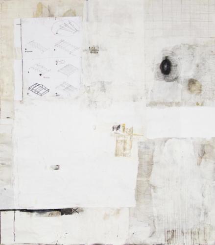 Emanuele Ravagnani senza titolo n°2,2020, mix et collage sur toile 208x178cm