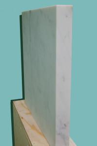 Molin Corvo gallery GABRIELE DAL DOSSO CUBO DI GABO–M³.M W1 - 2018 Carrara Statuary Marble and neon marble 60x60x6cm, neon 25x25cm Edition of 2 6000$ 6