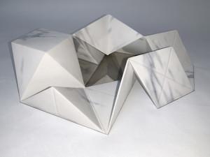 Molin Corvo gallery GABRIELE DAL DOSSO CUBO DI GABO – M³.M 1 - 2018 3D printed Carrara Marble 32x22x7cm Edition of 6 1600$ 1