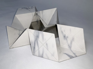 Molin Corvo gallery GABRIELE DAL DOSSO CUBO DI GABO – M³.M 1 - 2018 3D printed Carrara Marble 32x22x7cm Edition of 6 1600$ 3